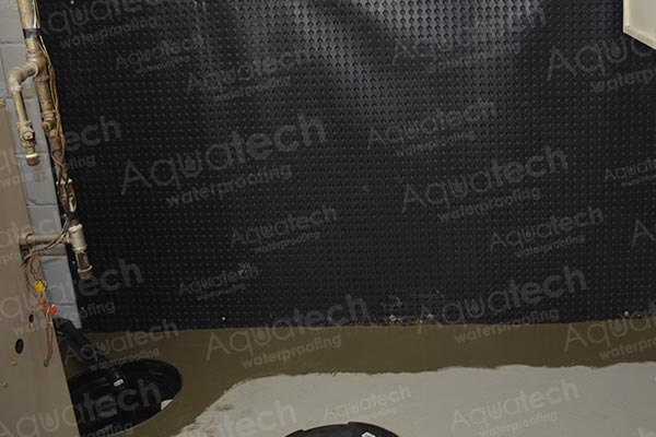 aquatech waterproofing - interior laying of hydraulic cement