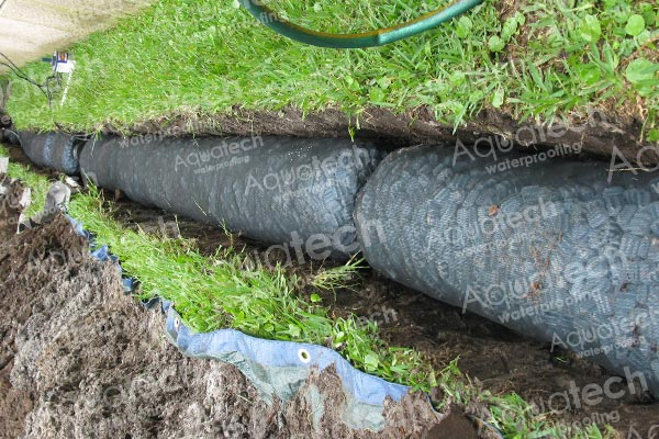 french drains installation
