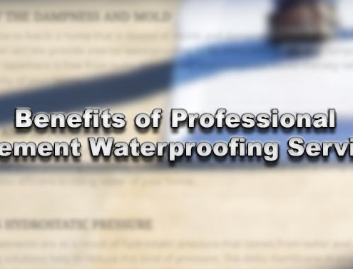 Benefits of Professional Basement Waterproofing Services