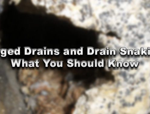 Clogged Drains and Drain Snaking... What You Should Know
