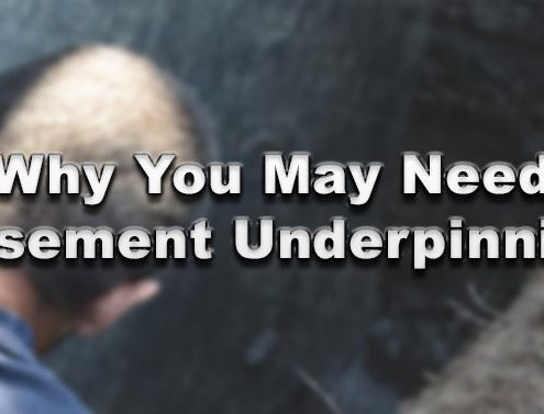 Why You May Need Basement Underpinning