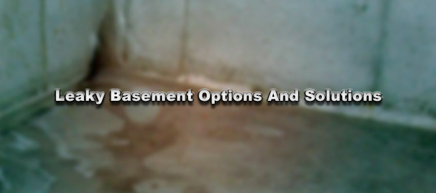 Leaky Basement Options And Solutions