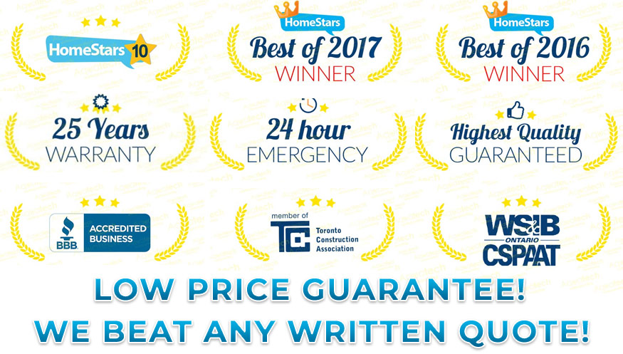 certification, award and recognition badges for aquatech waterproofing - low price guarantee, we beat any written quote!